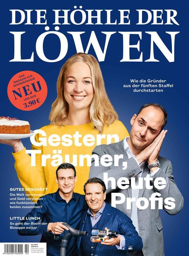 """""""Die Höhle der Löwen"""" zum Lesen: Die zweite Ausgabe des Magazins zur Sendung erschien am 13.November 2018. Hier können Sie das Heft portofrei bestellen."""