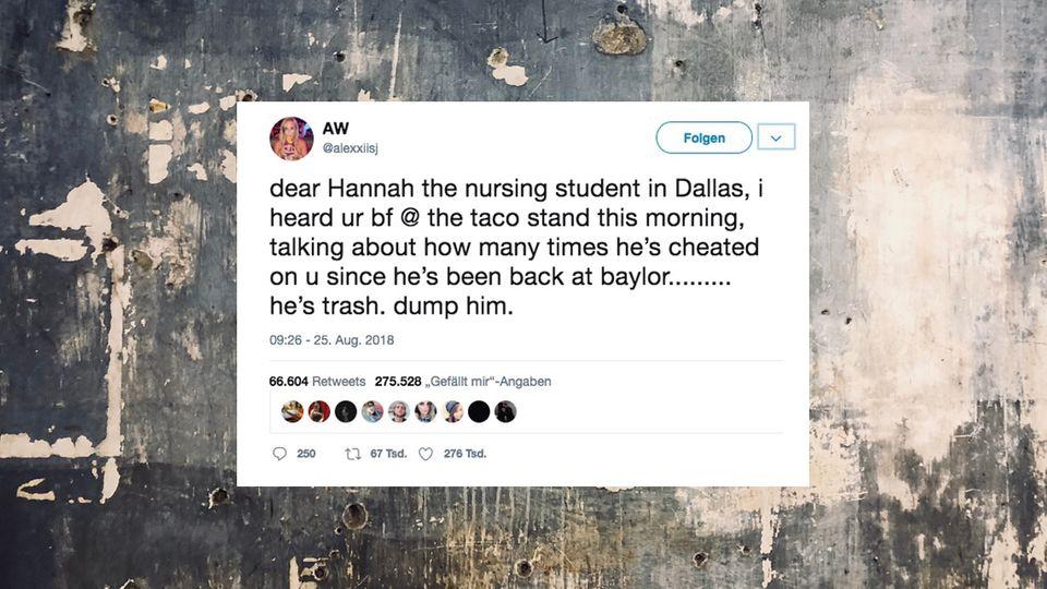 Mit diesem Post brachte eine Twitter-Userin die Lawine ins Rollen