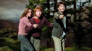 """Hermine, Ron und Harry in """"Harry Potter und der Gefangene von Azkaban"""""""