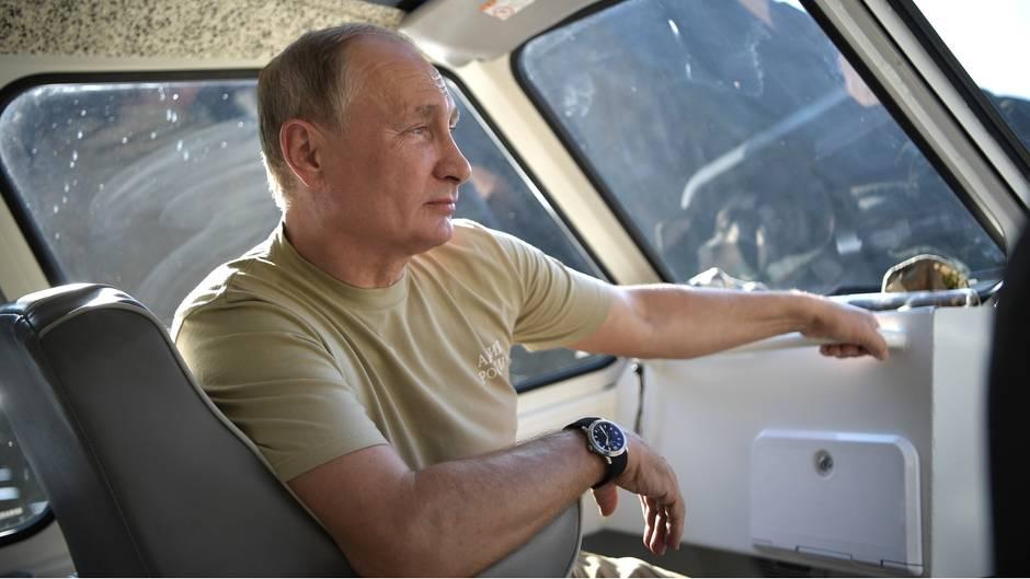 Wladimir Putin im Van