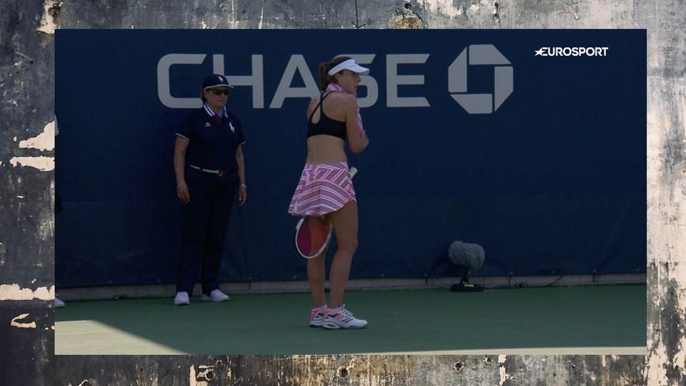 US Open: Tennisspielerin wird bestraft, weil sie ihr Shirt umdrehte