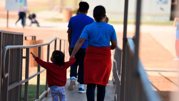 Familie in Haftanstalt in Dilley, Texas