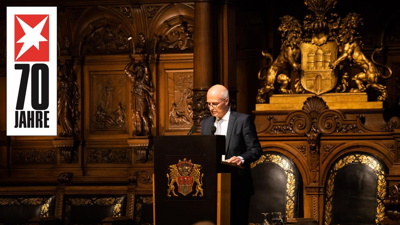 Hamburgs Erster Bürgermeister Peter Tschentscher beim Senatsempfang anlässlich von 70 Jahren stern