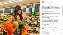 Influencer Riccardo Simonettihat sich für die Instagram-Kampagne von Lidl in Schale geworfen