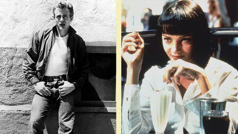 James Dean und Uma Thurman