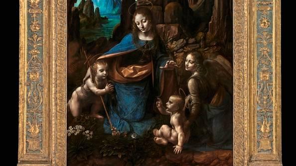 """Der """"Salvator"""" wurdemit anderen Werken Werken von da Vinci verglichen, etwa mit der """"Felsgrottenmadonna"""""""