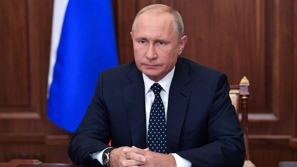 Wladimir Putin bei seine Ansprache zur Rentenreform