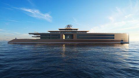 """Der Aufbau der """"Nature"""" erinnert eher an eine Zen-Tempel als an ein Schiff."""
