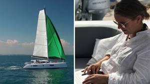 Maren und Matthias Wagener betreiben ihr Geschäft von ihrem Segelboot