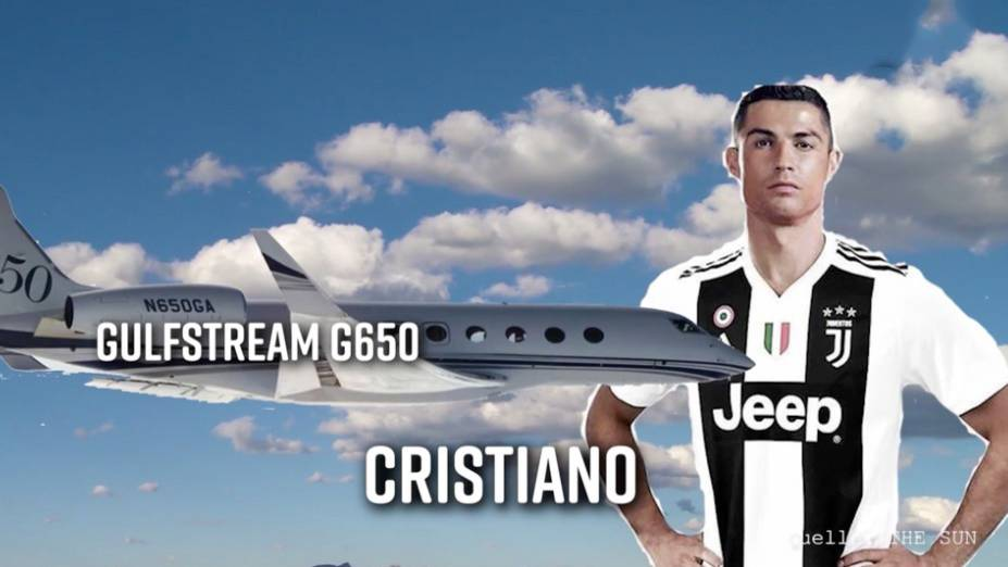 Ronaldo, Messi, Beckham und Co.: So luxuriös sind die teuren Privatjets der Fußballstars
