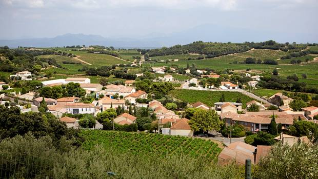 Die Ausläufer von Châteauneuf-duPape in der Nähe von Avignon. Seit dem 14. Jahrhundert wird hier Wein angebaut