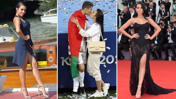Cristiano Ronaldo und seine Freundin Georgina Rodriguez. Das Paar hat eine gemeinsame Tochter.