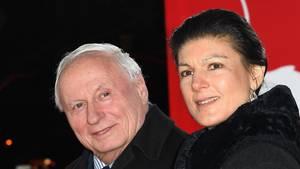 """Die """"Aufstehen""""-Initiatoren Oskar Lafontaine und Sahra Wagenknecht"""