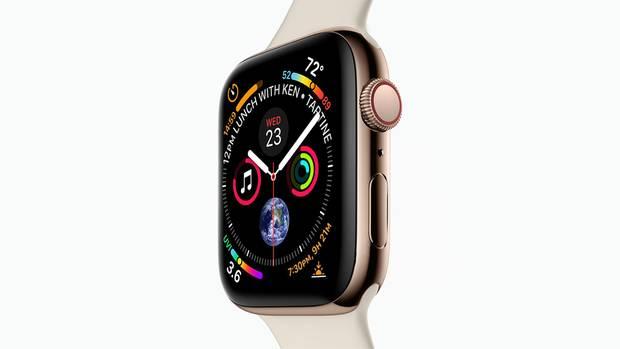 Die Apple Watch 4 vor weißem Hintergrund