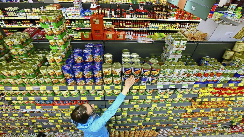 Suppen im Supermarkt