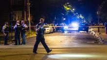 Polizisten bei der Arbeit in Chicago
