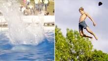 """Beim """"Death Diving"""" springen Sportler aus zehn Metern ins Wasser"""