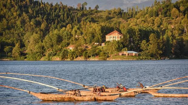Auslegerboote auf dem Kivusee