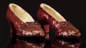 Die berühmten roten Schuhe von Judy Garland, die sie in dem Filmklassiker Zauberer von Oz trug
