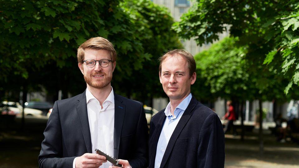 Die Vectoflow-Gründer Florian Wehner (l.) und Christian Haigermoser.