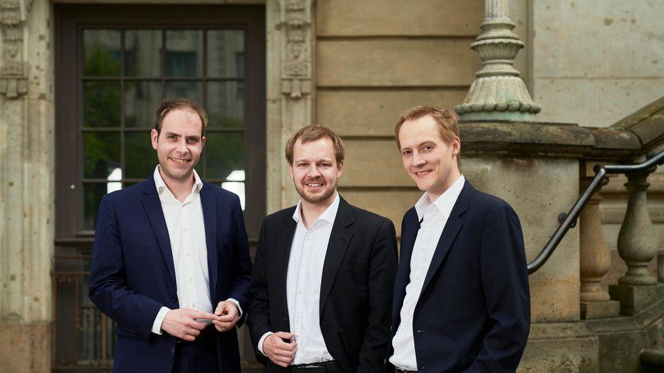 Die Oculavis-Gründer Martin Putz, Philipp Siebenkotten und Markus Große Böckmann (v. l.).
