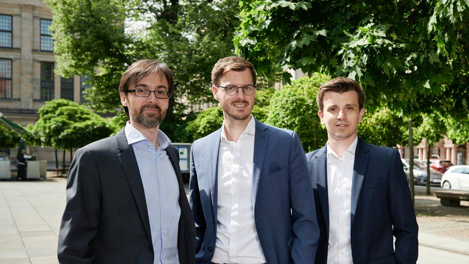 Die Ineratec-Gründer Paolo Piermartini, Tim Böltken und Philipp Engelkamp (v. l.).
