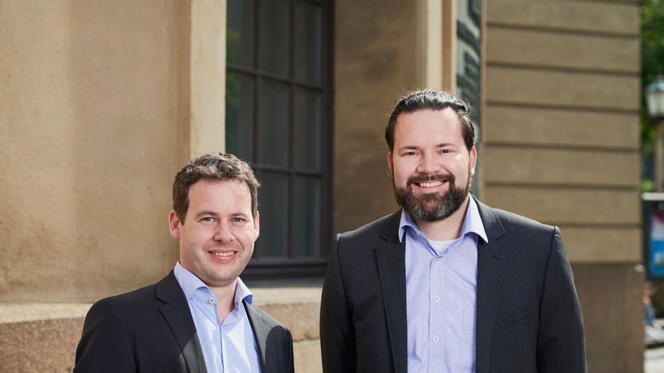 Zwei der vier CQSE-Gründer Martin Feilkas (l.) und Elmar Juergens.
