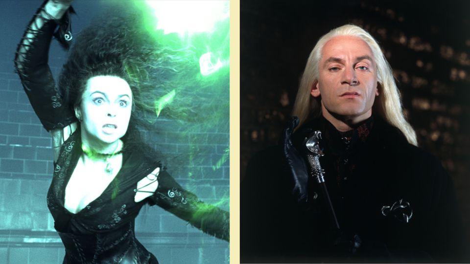 Bellatrix Lestrange und Lucius Malfoy