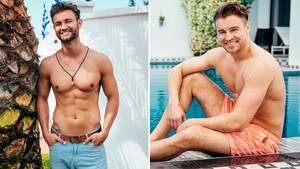 """Daniel (l.) und Alex stehen im Finale der RTL-Show """"Die Bachelorette"""""""