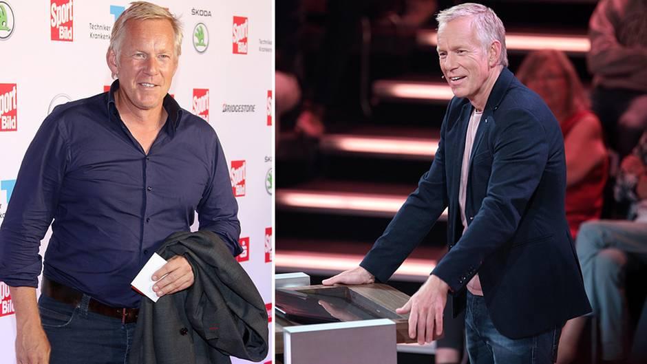 """Moderator Johannes B. Kerner im August 2015 (l.) und in seiner aktuellen ZDF-Show """"Da kommst Du nie drauf!"""""""