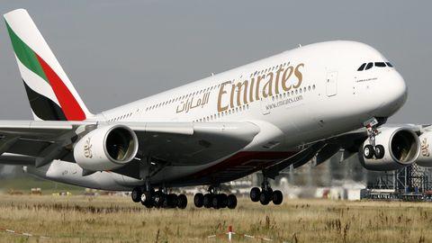 New York: Emirates-Flugzeug