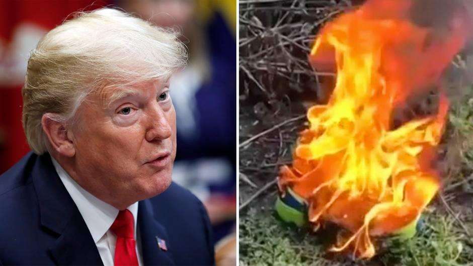 Trump kritisiert Nike-Werbung – seine Anhänger verbrennen Sportsachen