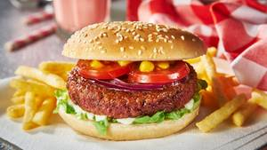 "Der ""blutende"" Vegan-Burger der Firma ""Moving Mountains"""