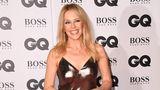 """Golden Girl: Sängerin Kylie Minogue strahlte mit ihrem Kleid um die Wette. Die 50-Jährige ist seit Kurzem mit PaulSolomons liiert - er ist der Kreativdirektor der britischen """"GQ""""."""