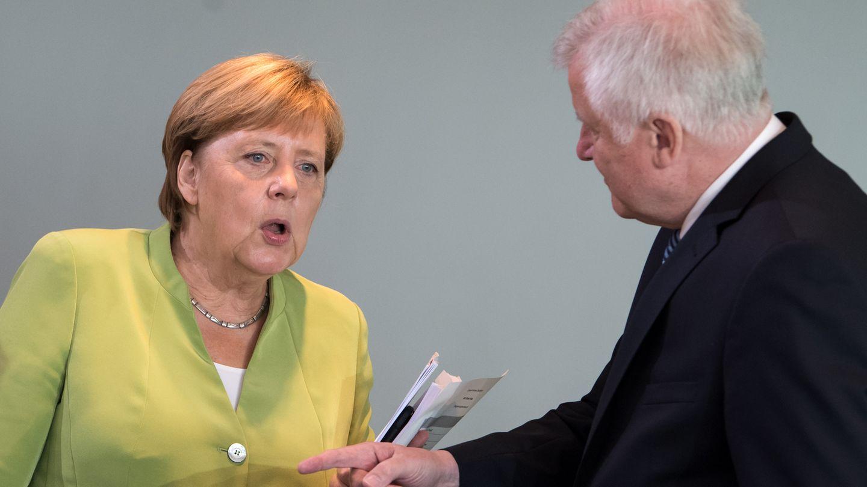 Bundeskanzlerin Angela Merkel und Innenminister Horst Seehoferim Bundeskanzleramt