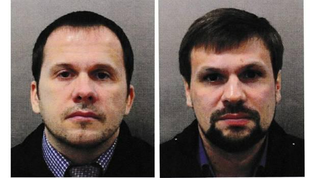 Skripal-Attentat: Mit diesen Fotos sucht Sctland Yard nach Alexander Petrow und Ruslan Boschirow.