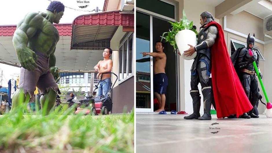 Spiderman, Hulk, Thor & Co: Wenn Superhelden bei der Hausarbeit helfen