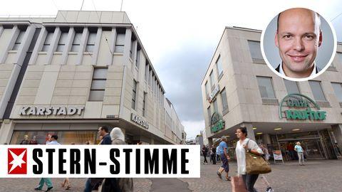 In Trier stehen Karstadt und Kaufhof direkt nebeneinander