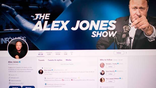 Profil auf Twitter Alex Jones