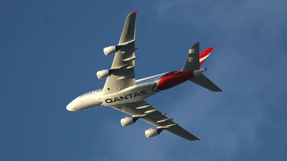 Der Airbus A380 von Qantas