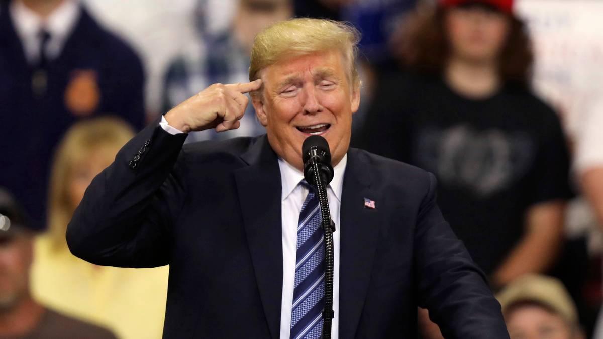 f93e76f90c2b1 Wahlkampfauftritt in Montan  Trump empört sich so sehr über die