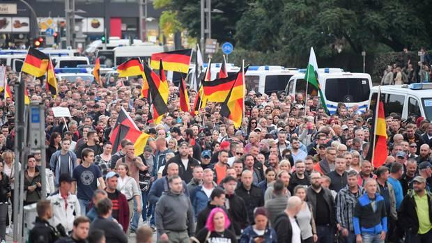 Demonstration des rechtspopulistischen Bündnisses Pro Chemnitz