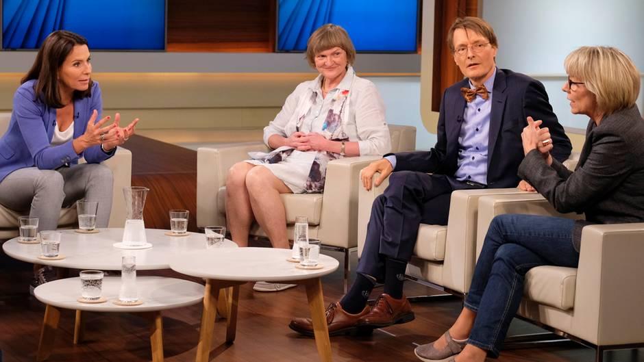 Anne Will diskutiert über Organspende mit Anita wolf, Karl Lauterbach und Alexandra Manzei