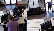 Ungeschickter Dieb lässt seine Pistole fallen