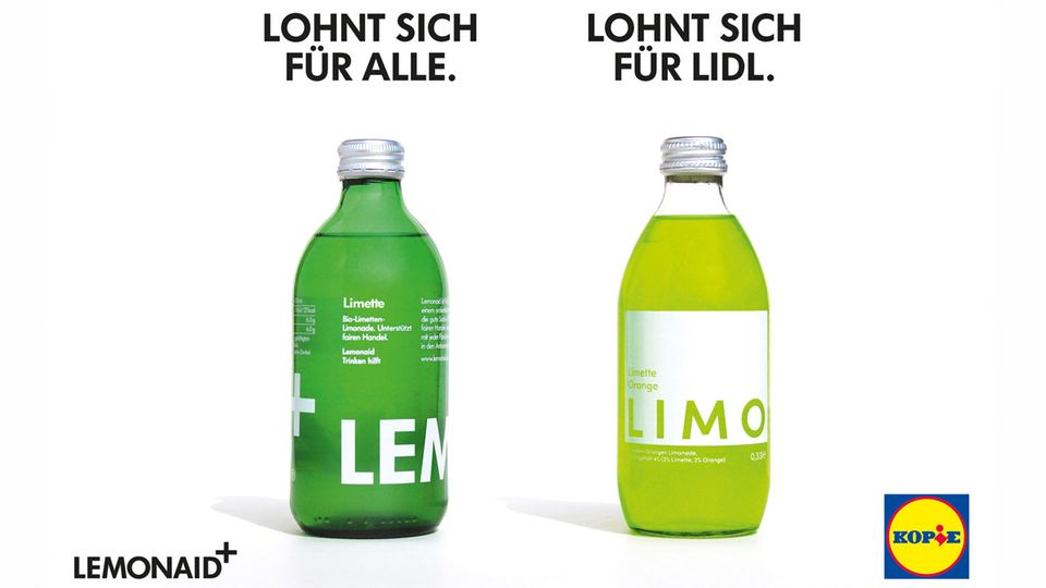 Motiv der Anti-Lidl-Kampagne von Lemonaid