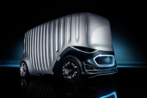 Mercedes Vision Urbanetic - mit dem aufsetzbaren Koffermodul können Gegenstände transportiert werden