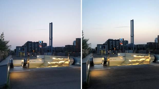 Die Hamburger Hafencity im Vergleich zwischen Galaxy Note 9 und iPhone X