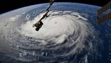 """Blick aus der ISS auf den gewaltigen Hurrikan """"Florence"""""""