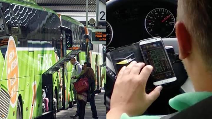 Gefährliche Busfahrt: Flixbus-Fahrer spielt auf der Autobahn mit seinem Handy – Passagiere sind entsetzt