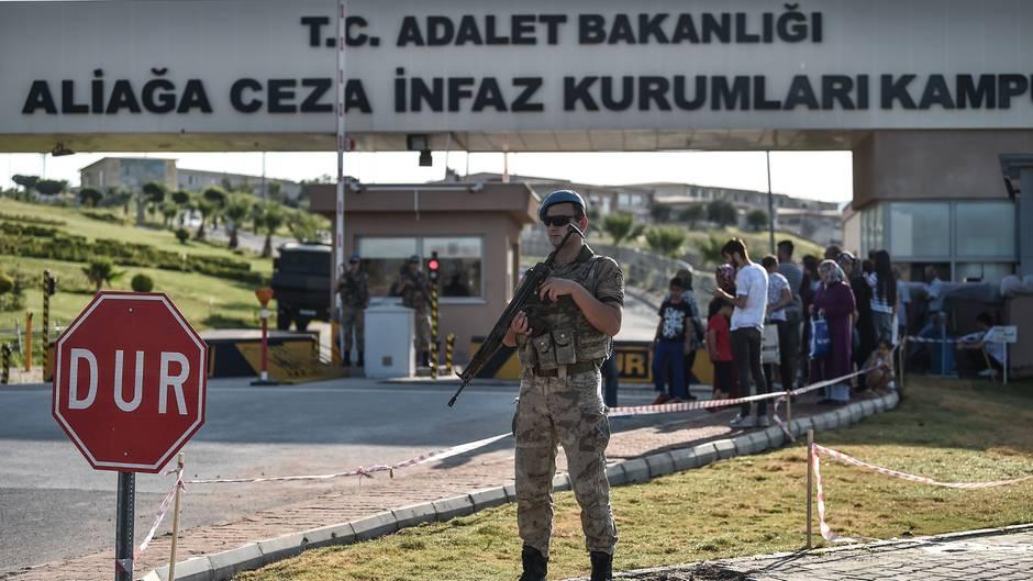 Eingang eines türkischen Gefänngnisses
